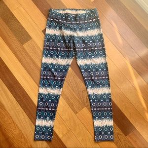 American Eagle Graphic Print Leggings, size med